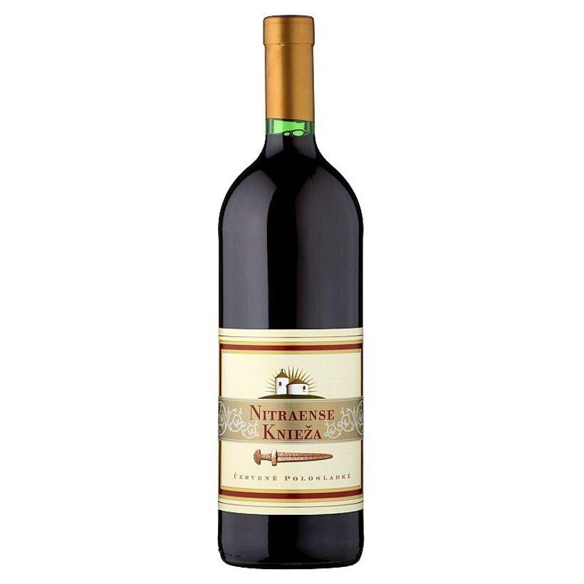 Víno Nitra Nitraense knieža červené polosladké víno 1 l