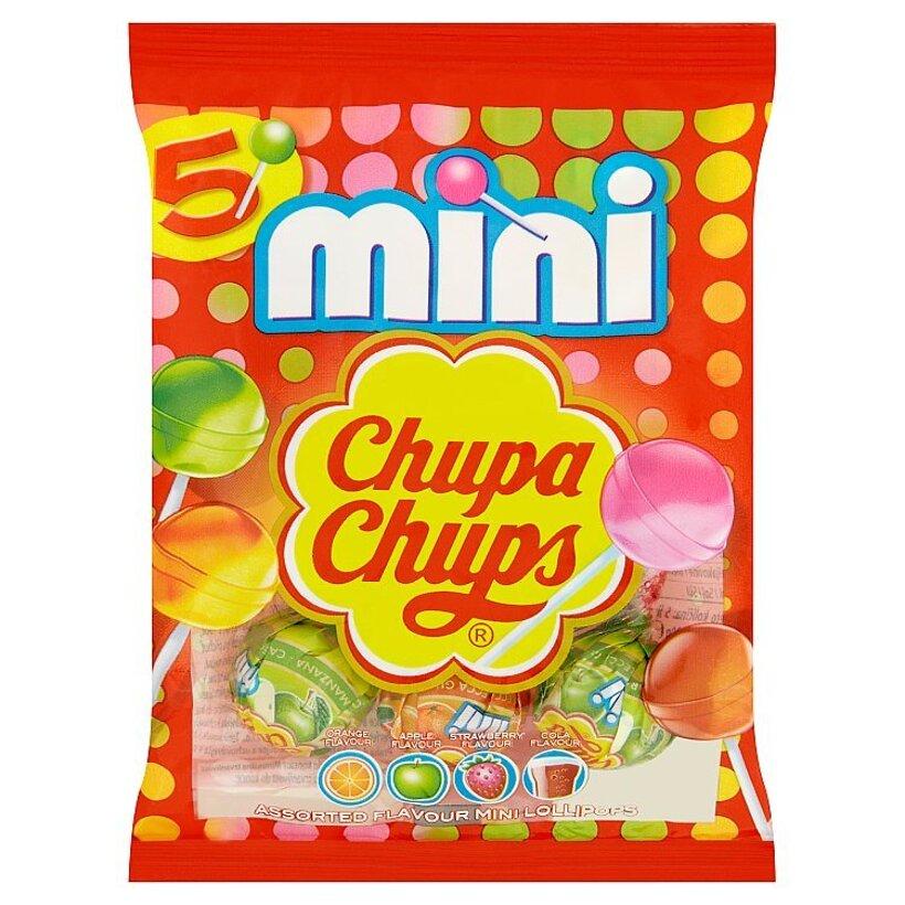 Chupa Chups Mini zmes lízaniek s rôznymi príchuťami 5 x 6 g