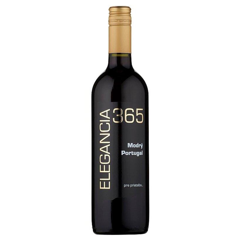 Elegancia 365 Modrý Portugal víno červené suché 0,75 l
