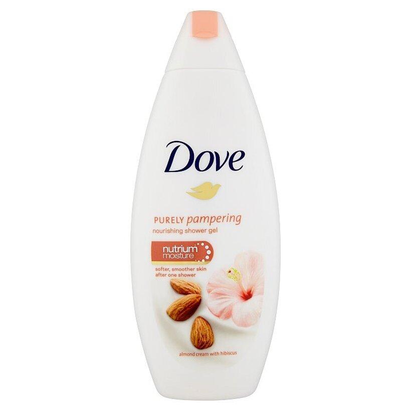 Dove Purely pampering vyživujúci sprchovací gél mandľový krém a ibištek 250 ml