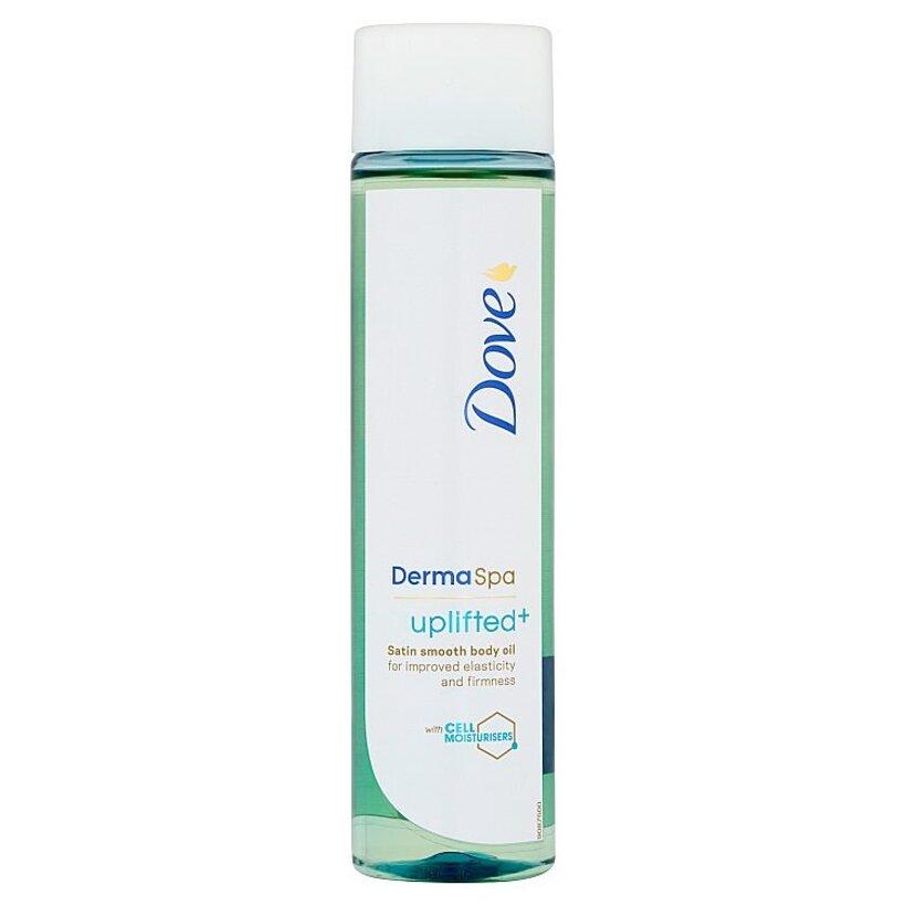 Dove Derma Spa Uplifted+ saténovo jemný telový olej 150 ml