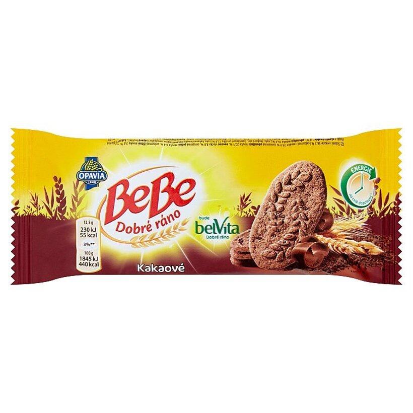Opavia BeBe Dobré ráno kakaové cereálne sušienky s čokoládovými kúskami 50 g