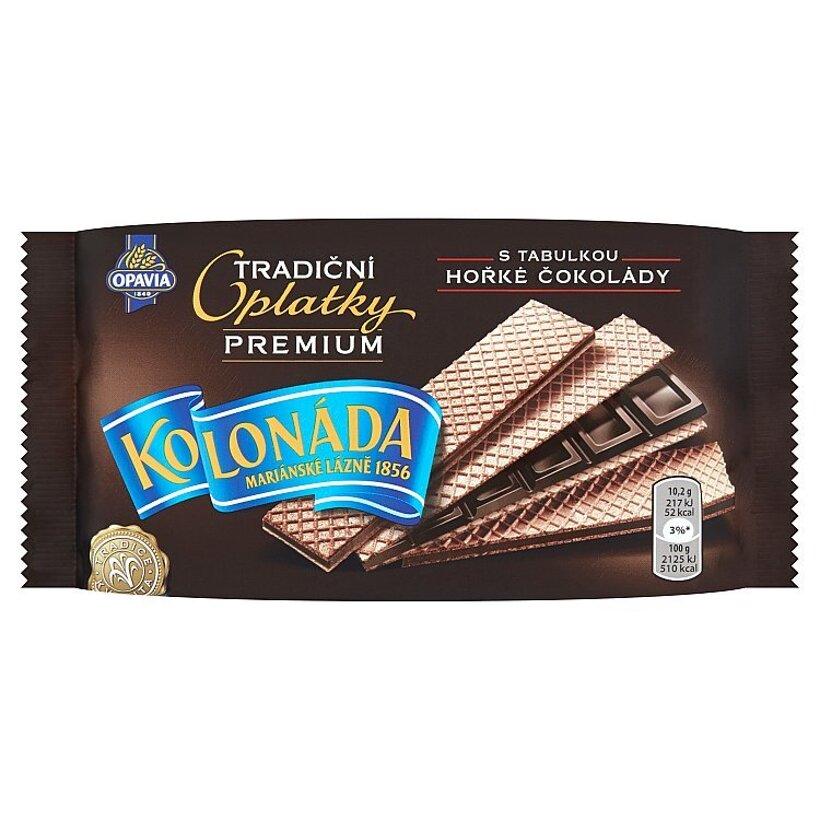 Opavia Kolonáda Oblátky plnené tabuľkou horkej čokolády 92 g