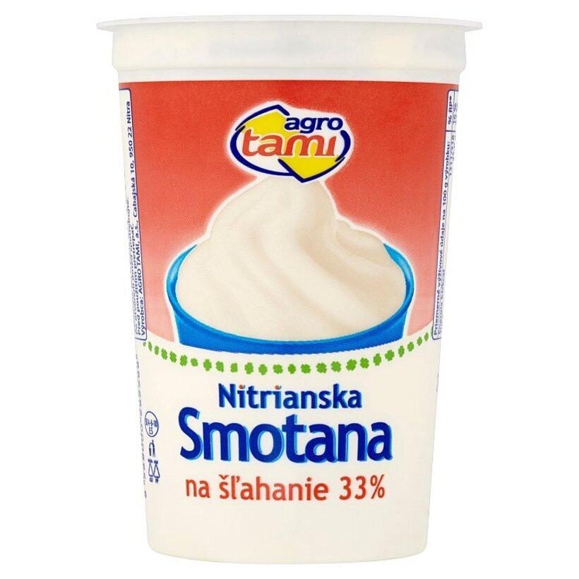 Agro Tami Nitrianska smotana na šľahanie 33 % 240 ml