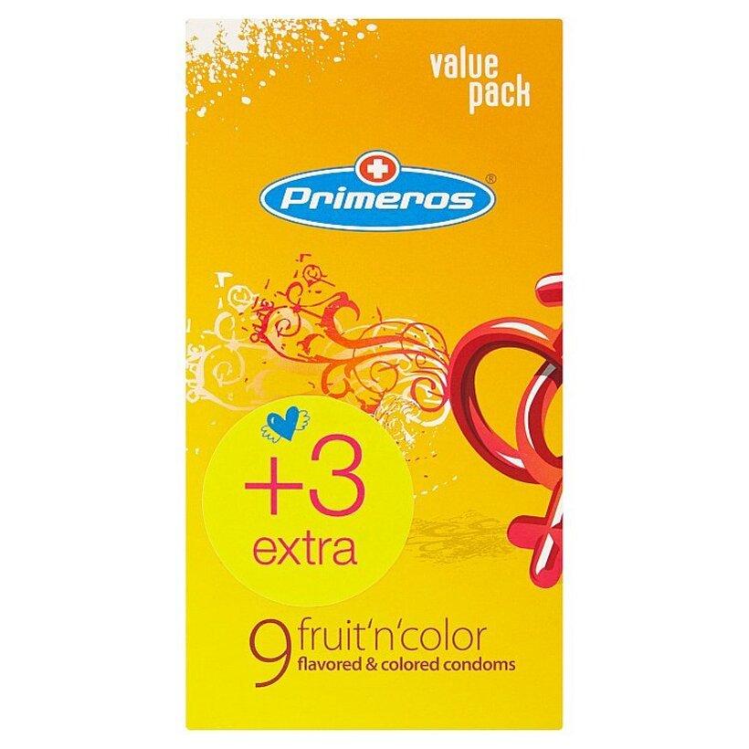 Primeros fruit´n´color farebné kondómy s arómou 12 ks