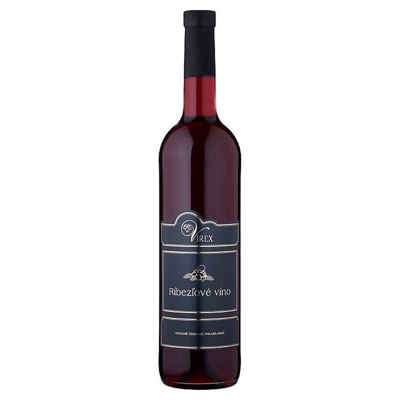 Virex Ríbezľové víno ovocné červené polosladké 0,75 l