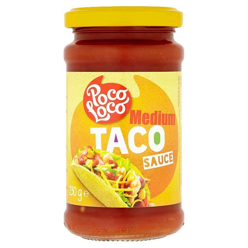 Poco Loco Taco medium rajčinová omáčka s cibuľou, zeleným čili a papričkami Jalapeño 230 g