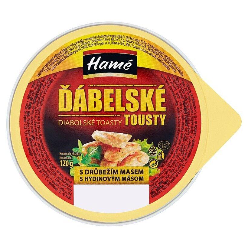 Hamé Diabolské toasty s hydinovým mäsom zmes na hrianky 120 g