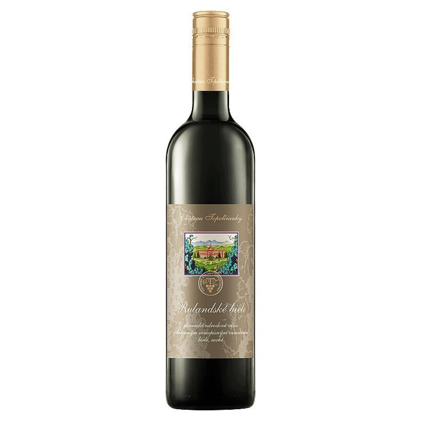 Château Topoľčianky Rulandské biele slovenské odrodové víno biele suché 0,75 l