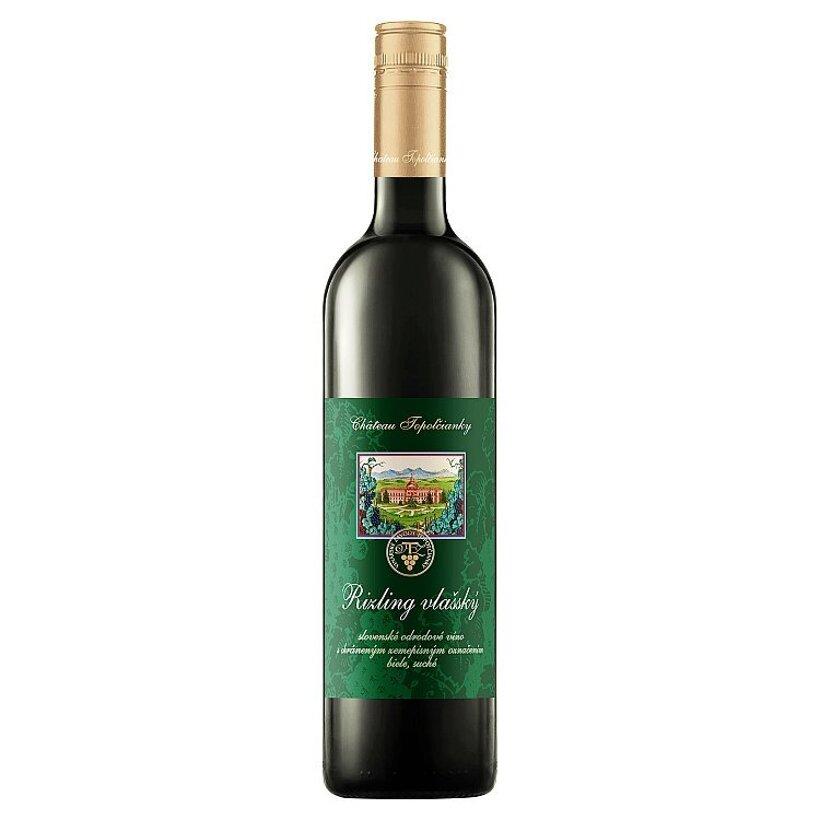 Château Topoľčianky Rizling vlašský slovenské odrodové víno suché biele 1,0 l