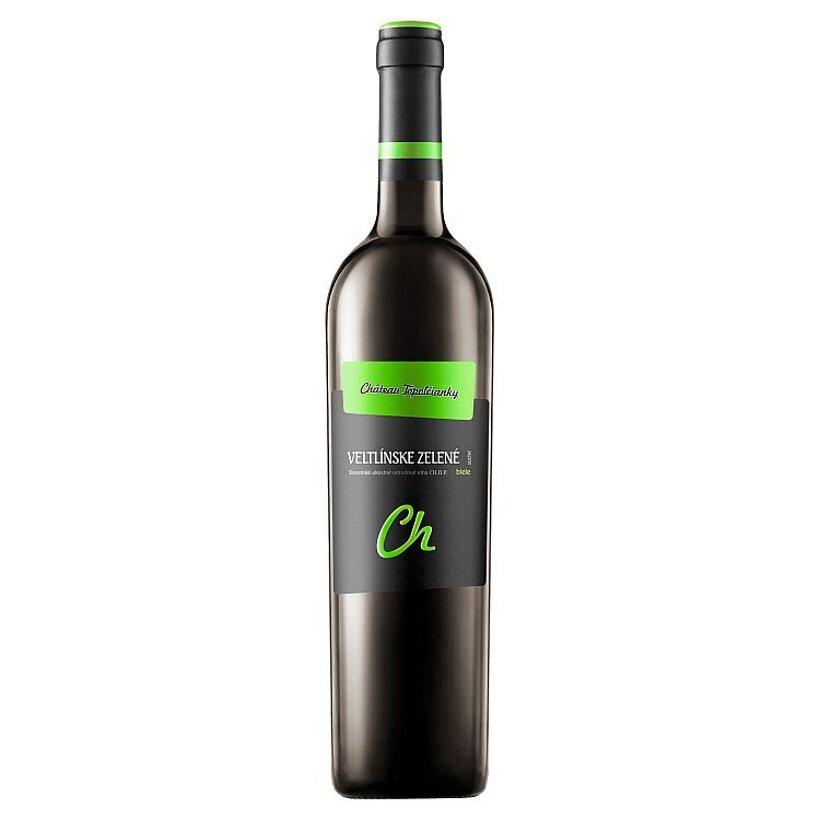 Château Topoľčianky Veltlínske zelené slovenské akostné odrodové víno CH.O.P. biele suché 0,75 l