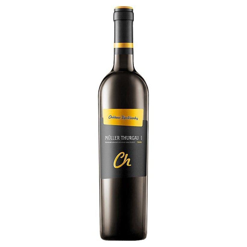 Château Topoľčianky Müller Thurgau slovenské akostné odrodové víno CH.O.P. biele polosuché 0,75 l