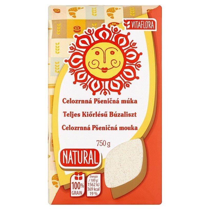 Vitaflóra Natural Celozrnná pšeničná múka 750 g