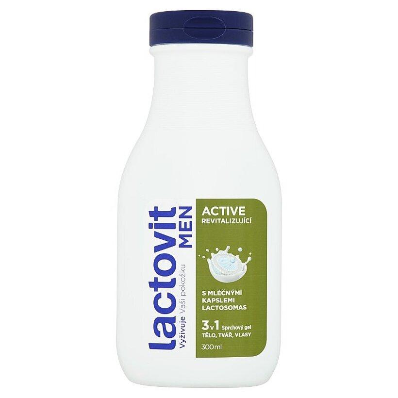 Lactovit Men Active 3 v 1 revitalizujúci sprchový gél 300 ml