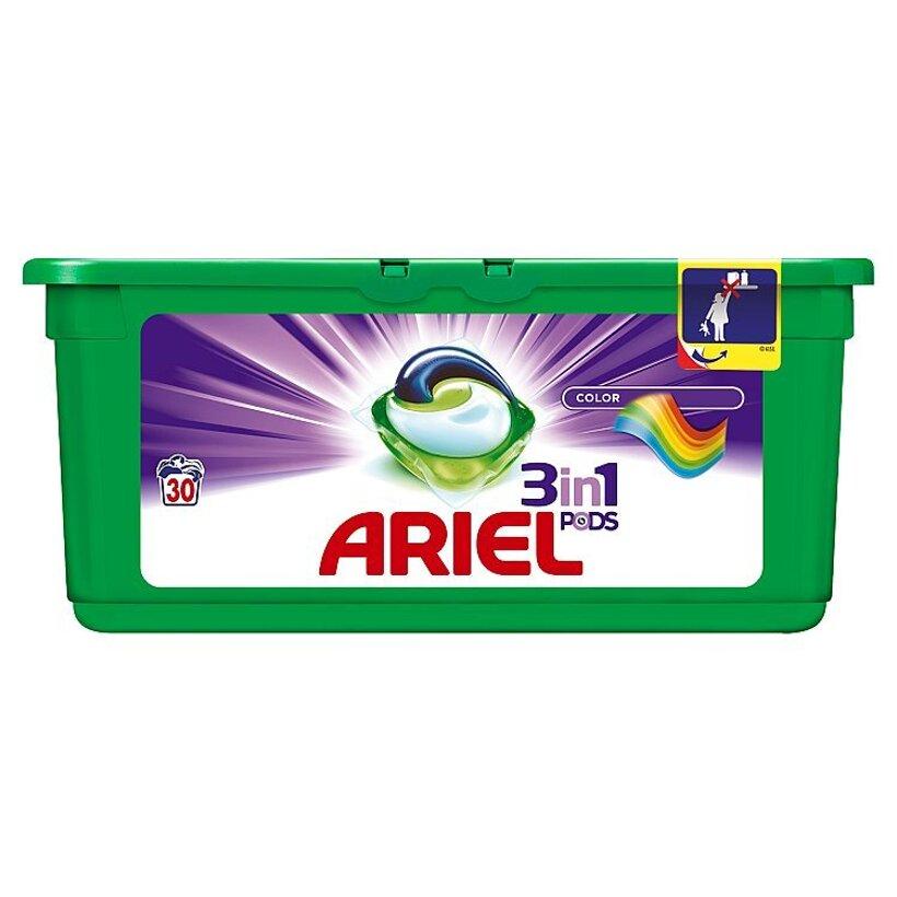 Ariel Color 3v1 gélové kapsuly na pranie bielizne, na 30 praní
