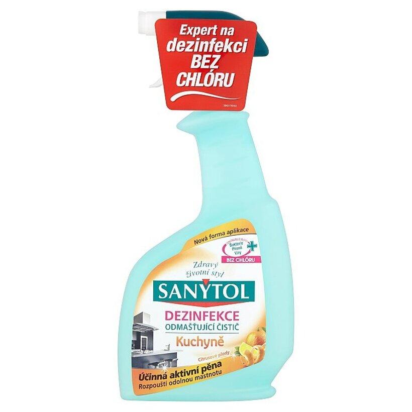 Sanytol Dezinfekcia odmasťujúci čistič kuchyne citrusové plody 500 ml