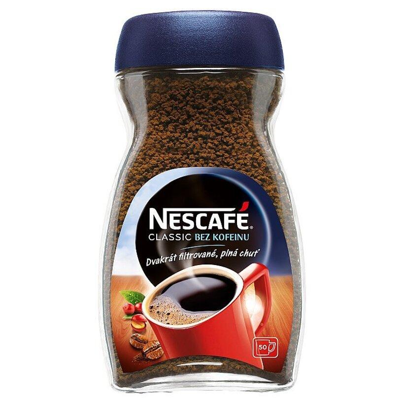 NESCAFÉ CLASSIC Bez kofeínu, instantná káva bez kofeínu, 100 g