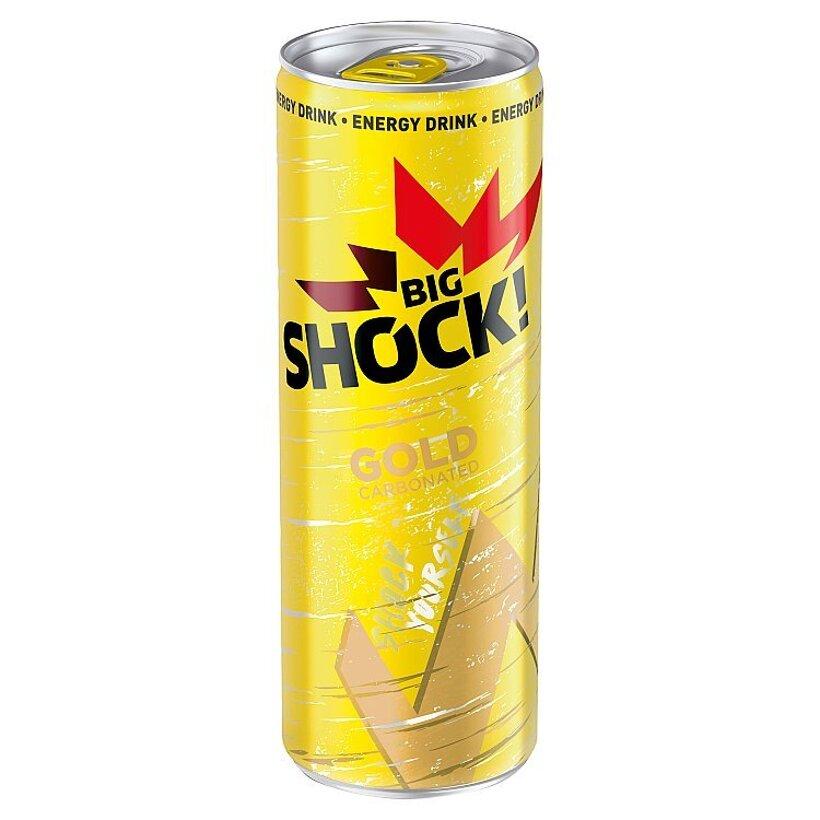 Big Shock! Gold sýtený energetický nápoj s príchuťou Tutti Frutti 330 ml