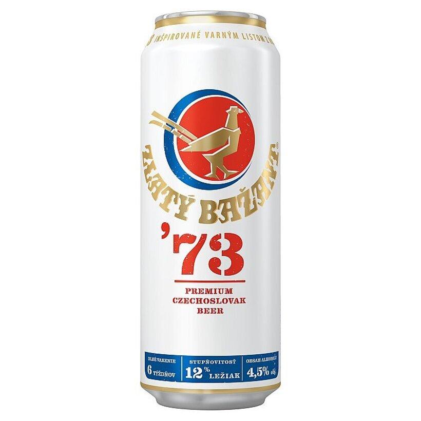 Zlatý Bažant '73 pivo svetlý ležiak plechovka 500 ml