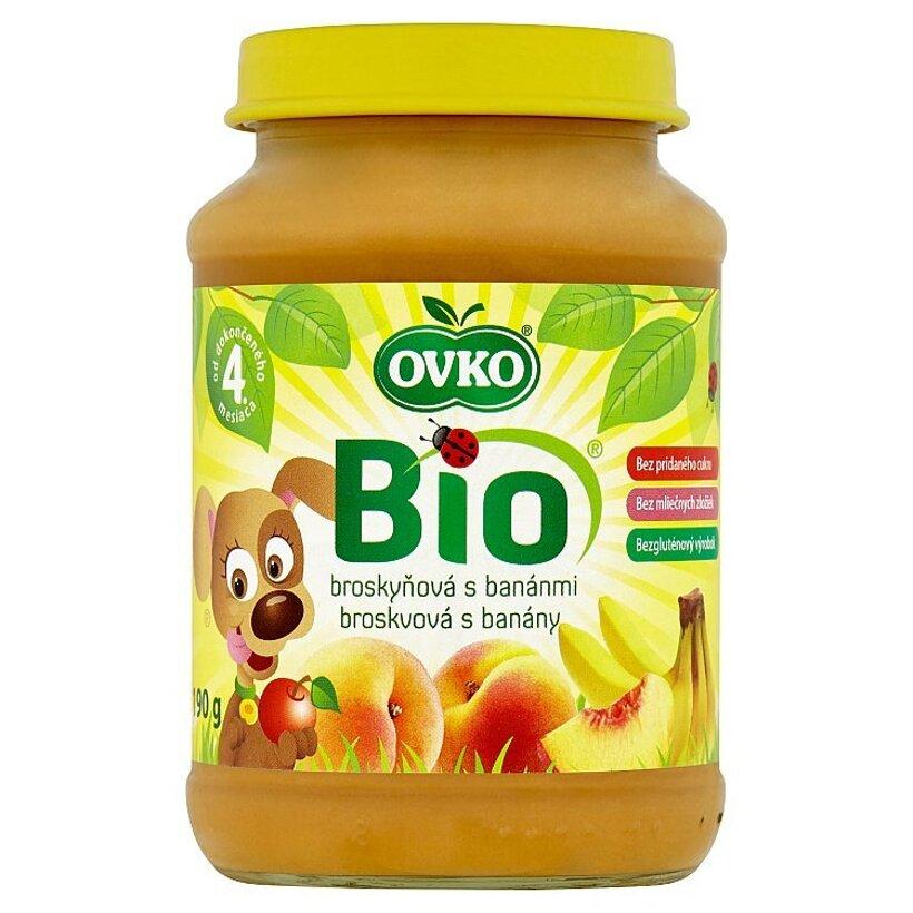 Ovko Bio Broskyňová s banánmi 190 g
