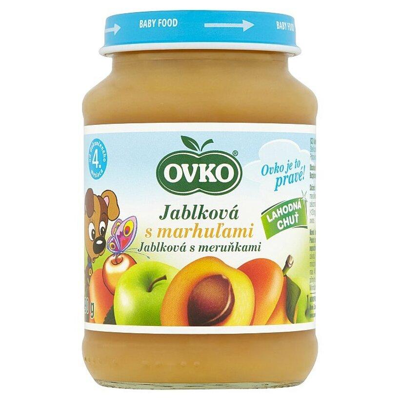 Ovko Jablková s marhuľami 190 g
