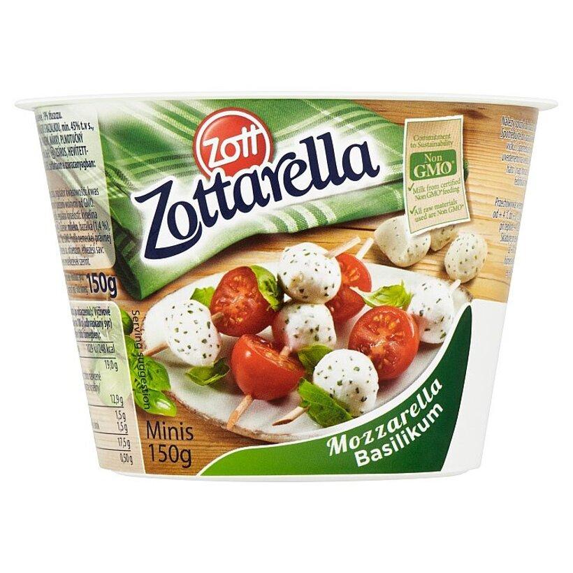 Zott Zottarella Minis Mozzarella Basilikum 150 g
