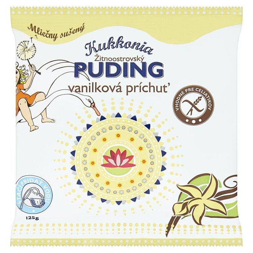 Kukkonia Žitnoostrovský puding vanilková príchuť 125 g