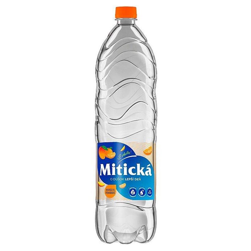 Mitická Mango & pomaranč sýtený nealkoholický nápoj 1,5 l