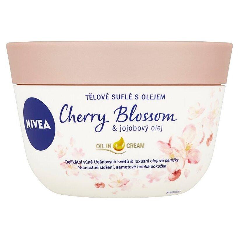 Nivea Telové suflé s olejom čerešňový kvet & jojobový olej 200 ml
