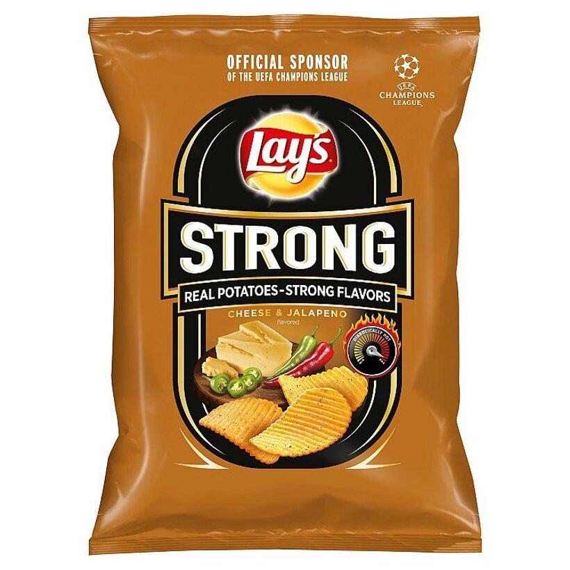 Lay's Strong Vyprážané zemiakové lupienky s príchuťou syra a pikantných papričiek 65 g