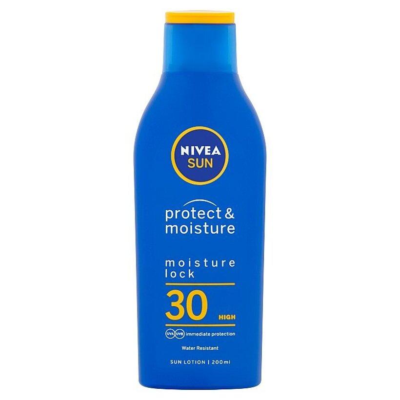 Nivea Sun Protect & Moisture Hydratačné mlieko na opaľovanie OF 30 200 ml