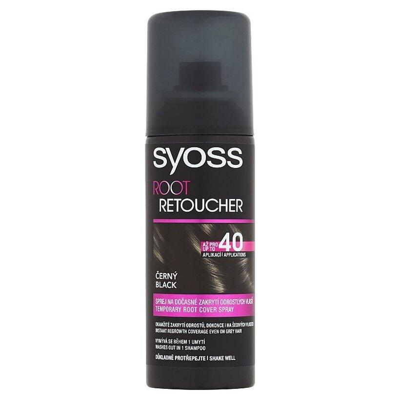 Syoss Root Retoucher sprej na dočasné zakrytie odrastených vlasov Čierny 120 ml