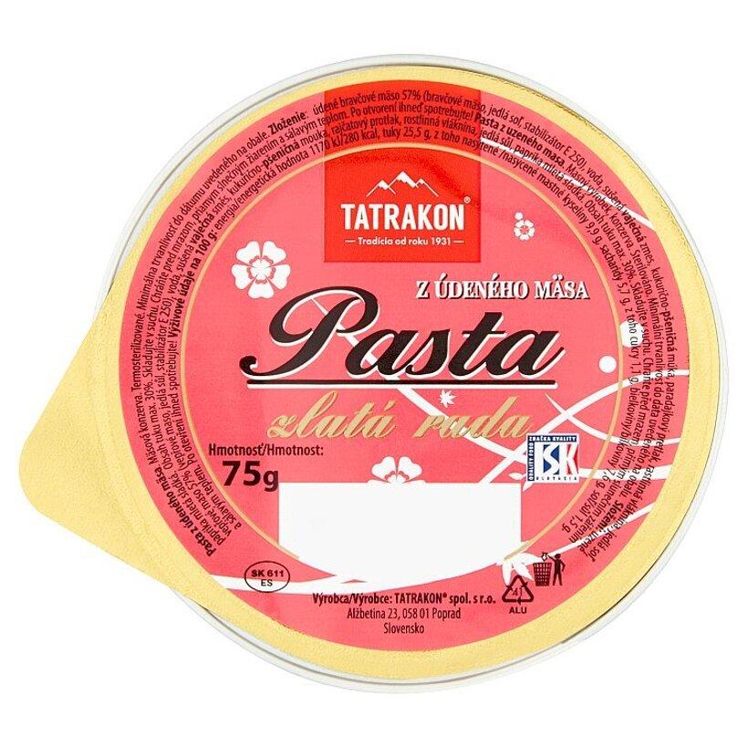 Tatrakon Pasta z údeného mäsa zlatá rada 75 g