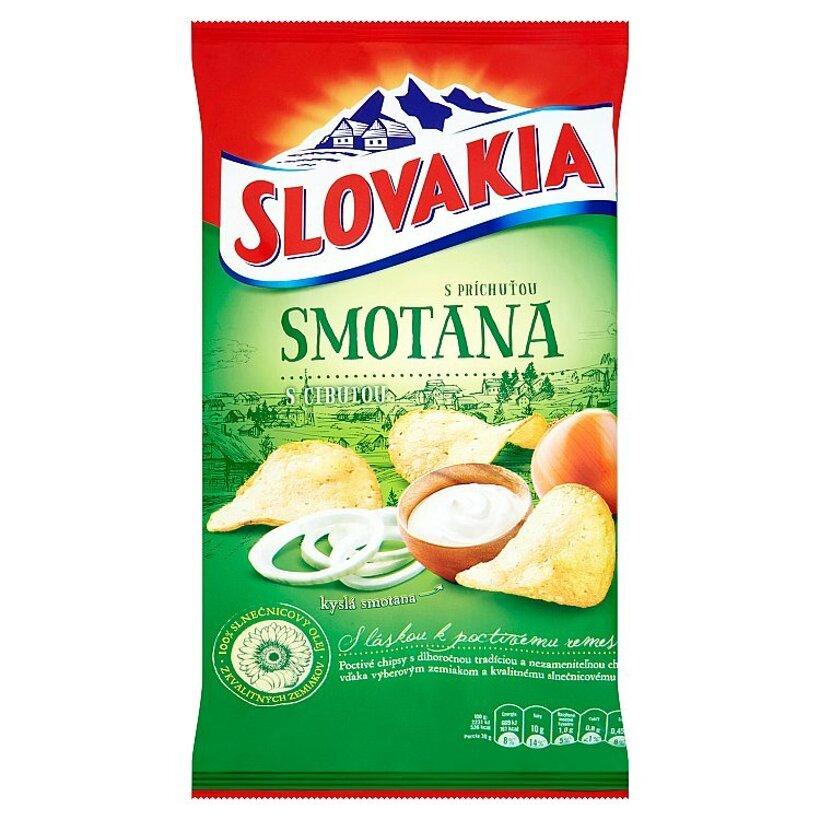 Slovakia Chips S príchuťou smotana s cibuľou 140 g