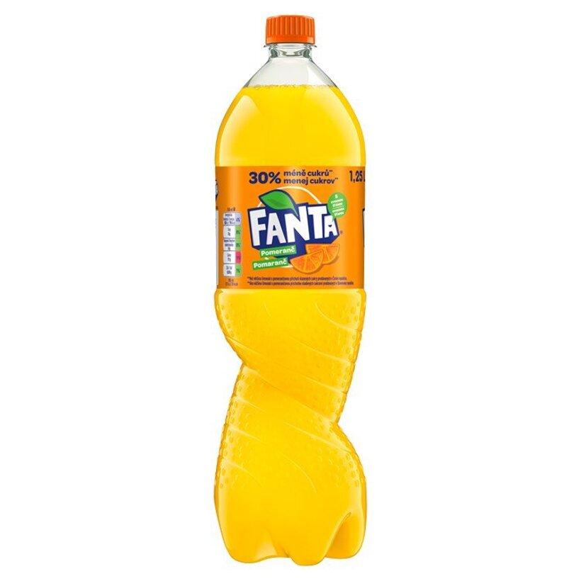 Fanta, pomarančová limonáda, 1,25 l