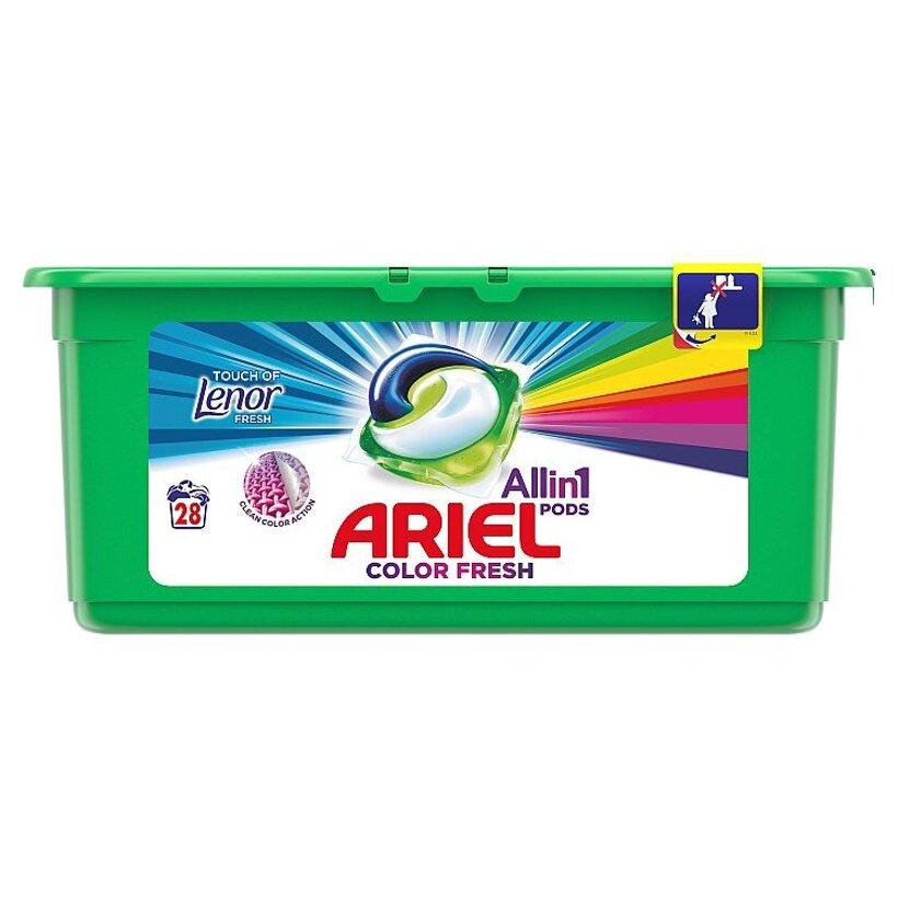 Ariel All In 1 Pods Touch Of Lenor Fresh Color, Gélové Kapsuly Na Pranie, 28 Praní
