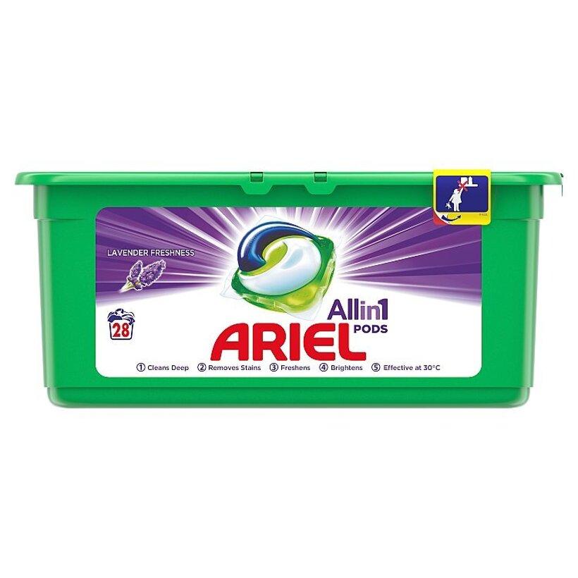 Ariel All In 1 Pods Lavender, Gélové Kapsuly Na Pranie, 28 Praní