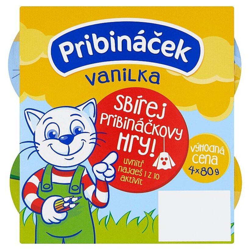 Pribináček Vanilka 4 x 80 g