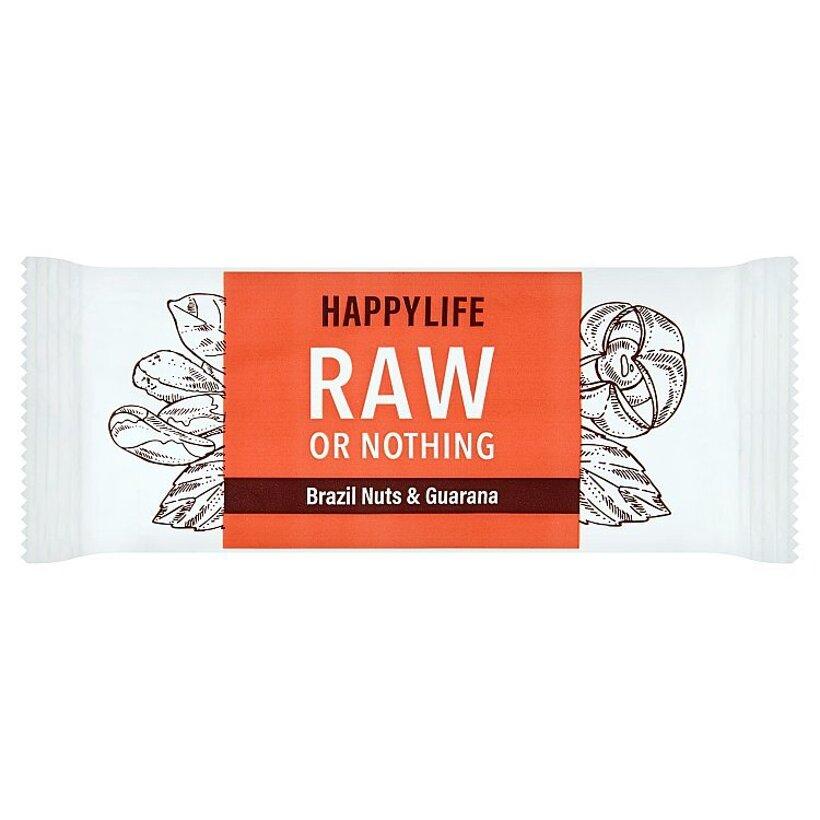 Happylife HAPPYBAR - tyčinka s para orechmi a guaranou bio & raw 50 g