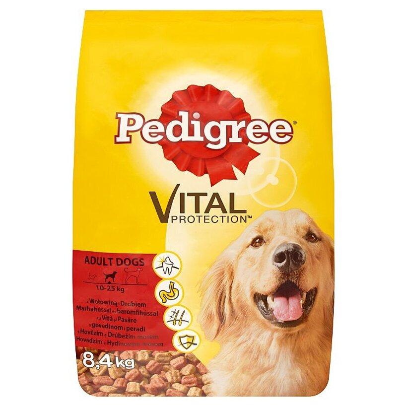 Pedigree Vital Protection Hovädzie a hydinové mäso kompletné krmivo pre dospelých psov 8,4 kg