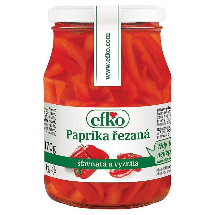 efko Paprika rezaná 320 g