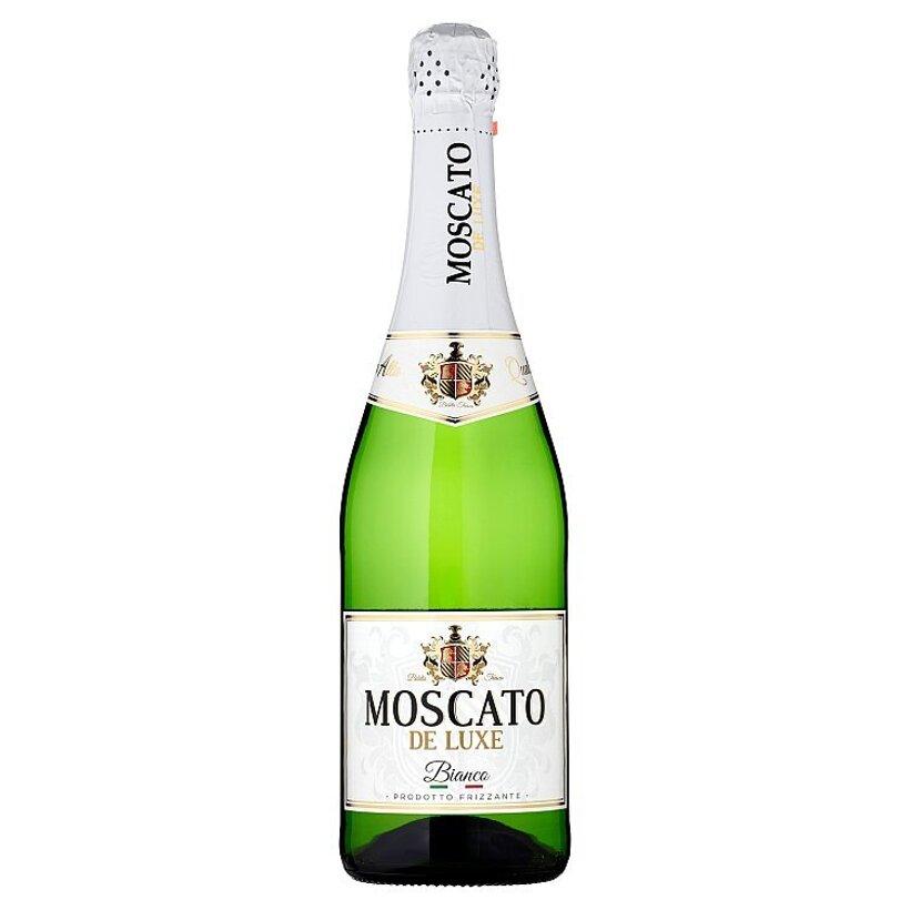 Moscato De Luxe Bianco alkoholický nápoj sýtený 0,75 l