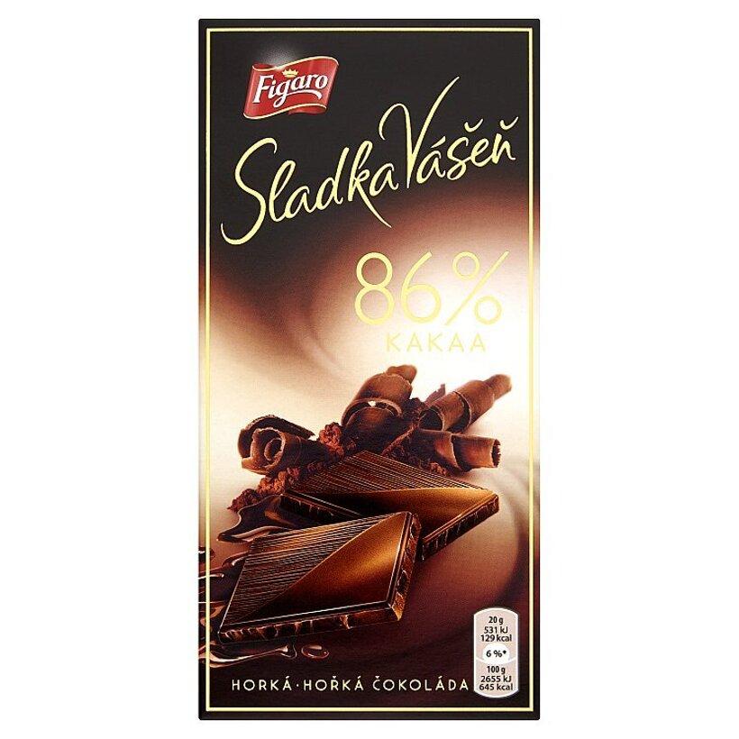 Figaro Sladká Vášeň 86 % kakaa horká čokoláda 100 g