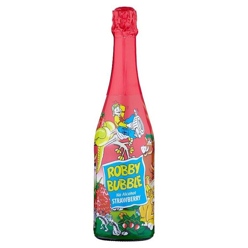 Robby Bubble Strawberry sýtený nealkoholický nápoj ochutený 0,75 l