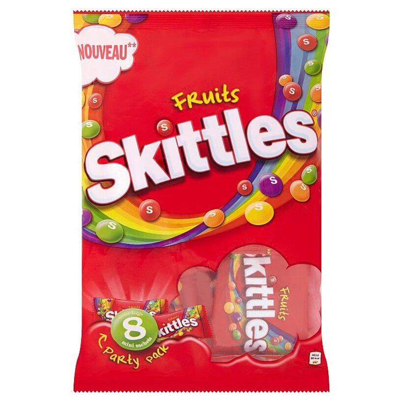 Skittles Fruits žuvacie cukríky v chrumkavej cukrovej vrstve s ovocnými príchuťami 208 g