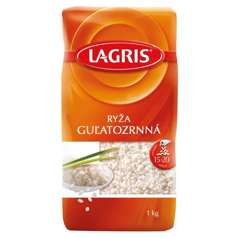 Lagris Ryža guľatozrnná lúpaná 1 kg