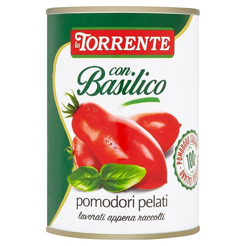 La Torrente Lúpané paradajky s bazalkou v paradajkovej šťave 400 g