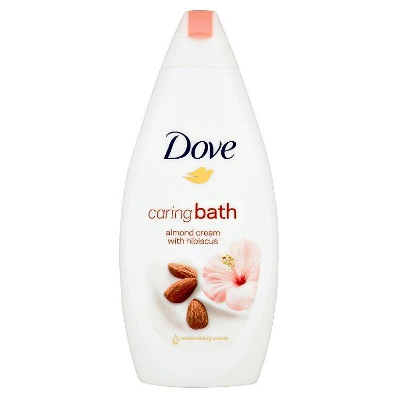 Dove Caring bath pena do kúpeľa s mandľovým krémom a ibištekom 500 ml