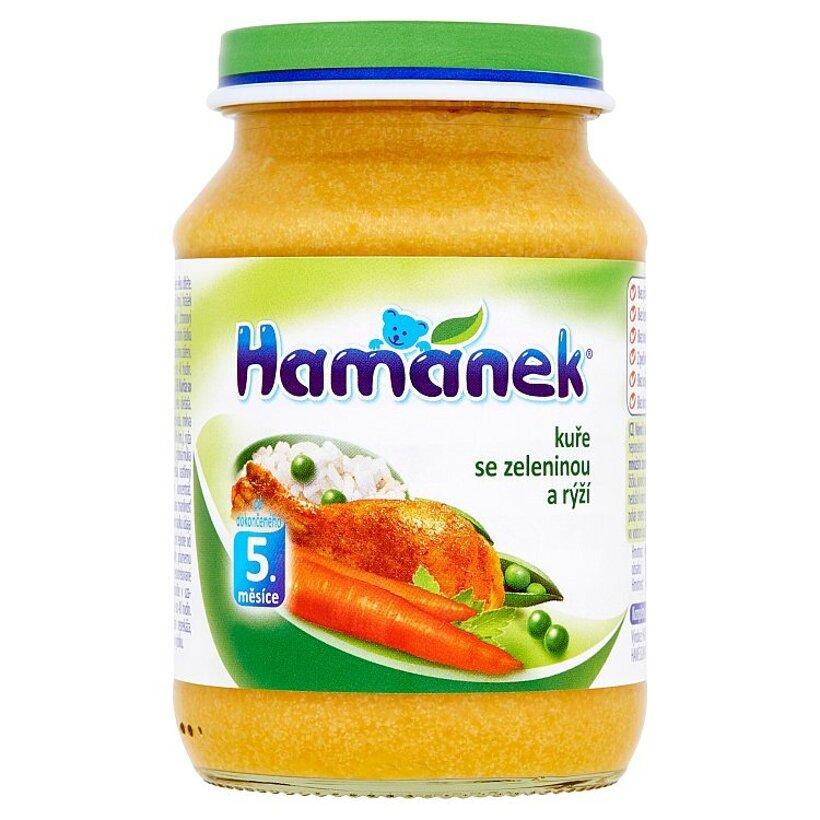 Hamánek Kurča so zeleninou a ryžou 190 g