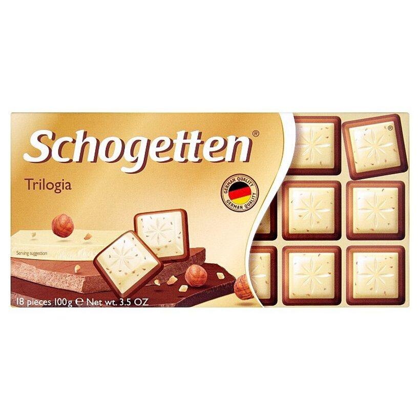 Schogetten Trilogia biela čokoláda s krokantmi z lieskových orieškov 100 g